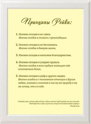 принципы Рейки картина