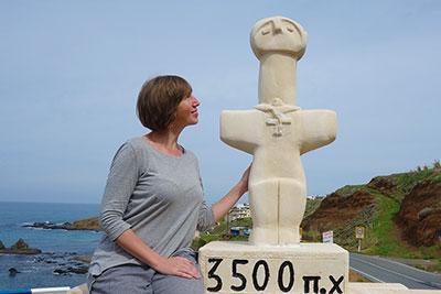 Помосский идол на въезде в поселок Помос