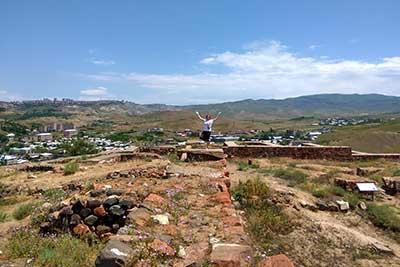 Развалины древнего города Эребуни государства Урарту в Ереване