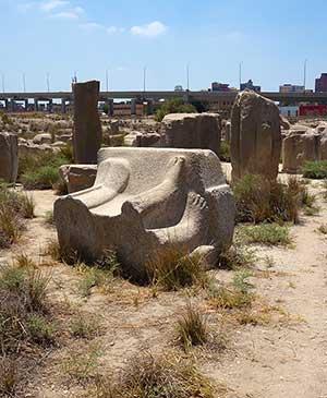 Развалины древнего города Бубастис — центра культа плодородия богини-кошки Бастет