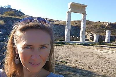 Остатки акрополя Пантикапея, расположенного на горе Митридат в Керчи