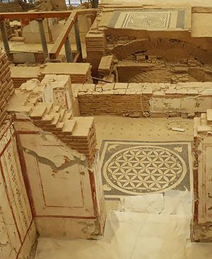 Сакральная геометрия напольная мозаика цветок жизни Дом богачей Эфес дом с террасами