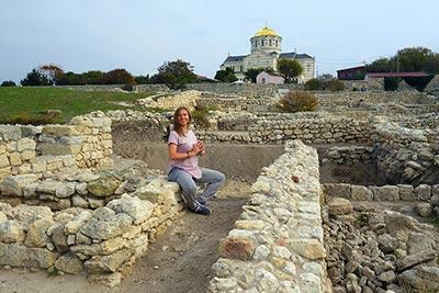Руины античного полиса крепости Херсонеса Таврического  покровитель богиня Дева Севастополь