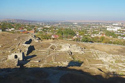 Руины Пантикапея - столицы Боспорского царства основан в конце VII века н.э. Керчь