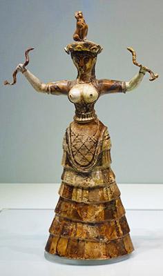 Критская Богиня со змеями