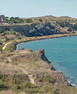Берег Таманского полуострова - места культа Афродиты Апатуры во времена Боспорского царства